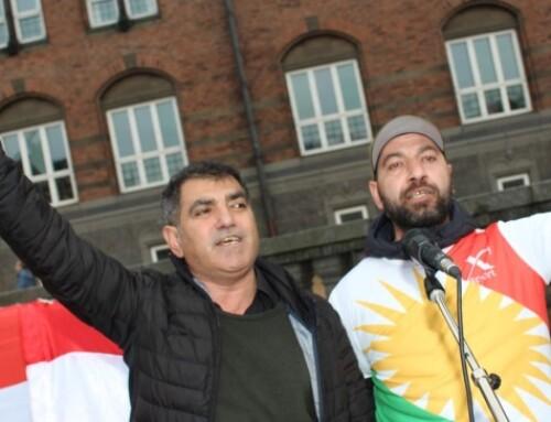 Demonstration foran Københavns rådhus