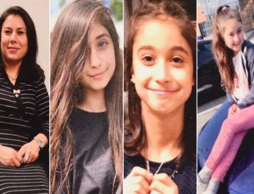Mor og tre døtre fra dødsbrand begravet