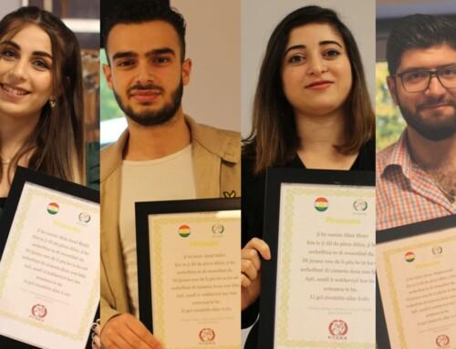 Kurdiske studenter blev fejret i hele Danmark